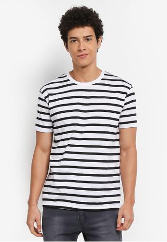 Penshoppe white Striped T-Shirt 83FDCAAF97FE2FGS_1