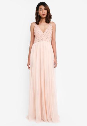 Lace & Beads pink Irina Maxi Dress A1C03AAAF00B7AGS_1