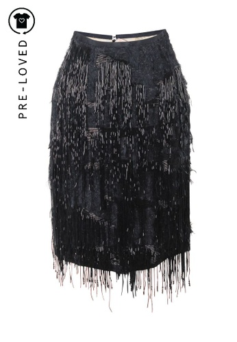 Roksanda Ilincic black Pre-Loved roksanda ilincic Knee Lenght Black Embellished Skirt 5F451AA141FC39GS_1