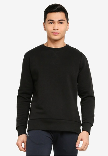 Brave Soul black Crew Neck Sweatshirt B689DAAF4C3D0FGS_1