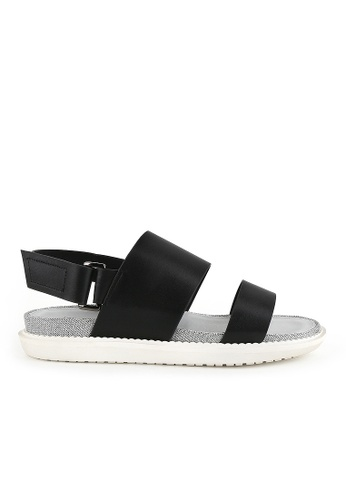 Joy & Peace black Dual Strap Sandals JO458SH76YGXHK_1