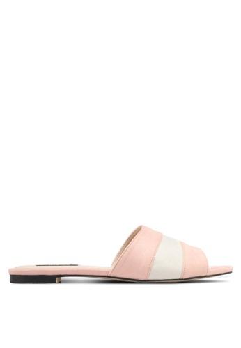 ZALORA 粉紅色 雙色撞色涼鞋 C5DD0SHEE0E07FGS_1