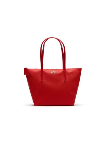 Lacoste red Women's L.12.12 Concept Small Zip Tote Bag 0C655ACE574004GS_1