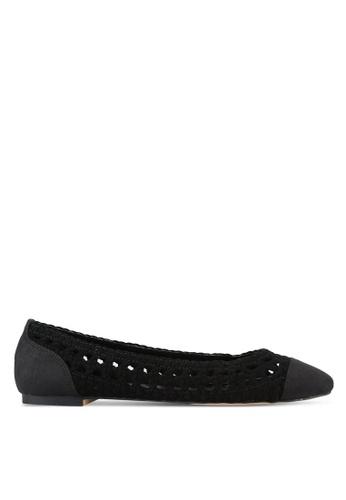 ZALORA black Weaved Ballerina Flats 813CBSHBF1A605GS_1