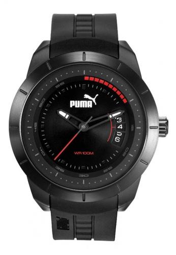 Puma black PU104191003  Black PU Strap Men Watch PU549AC0RKKVMY_1