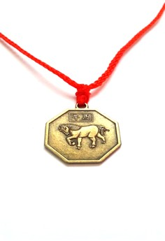 Feng Shui Brass Horse Pendant Animal Sign Necklace