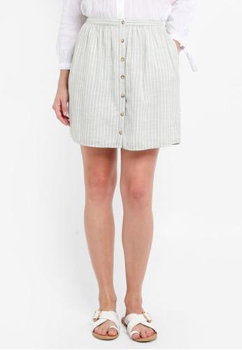 Abercrombie & Fitch white Button Thru Mini Set Skirt C34CBAA95E4DA6GS_1