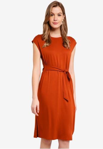 Cotton On orange Fiona Tie Waist Midi Dress 76083AA8906148GS_1