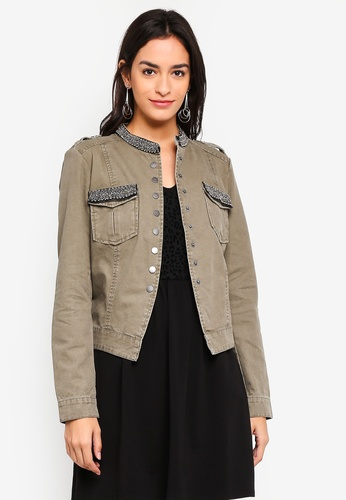 ONLY brown Austin Bling Jacket A186CAA3667764GS_1