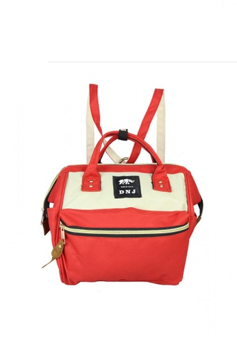 DNJ red Small Canvas Bag DN487AC31RBCPH_1