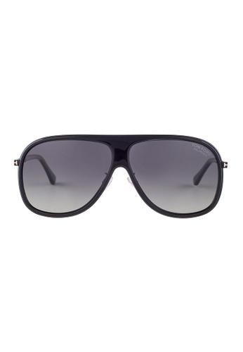 Tom Ford black TOM FORD Chris Aviator Black Polarized Sunglasses TF462 TO545AC24JGPMY_1
