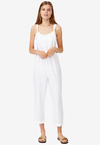 Cotton On white Woven Ines Strappy Jumpsuit 5A1F7AAC988B36GS_1