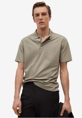 MANGO Man grey Technical Cotton Piqué Polo Shirt 80078AA1944098GS_1