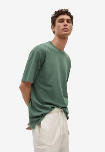 MANGO Man green Relaxed Fit Cotton T-Shirt 84786AAC0112E7GS_1