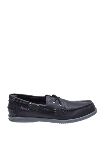 Sebago black Litesides Two Eye Boat Shoes SE328SH0J659PH_1