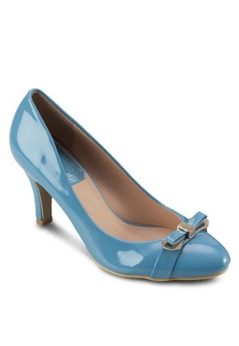 蝴蝶結漆esprit taiwan皮高跟鞋, 女鞋, 鞋