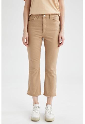 DeFacto beige Woman Woven Trouser B9100AA7D4A476GS_1