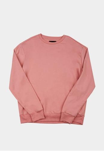 Penshoppe pink Basic Pullover 0808AAAEACFA21GS_1