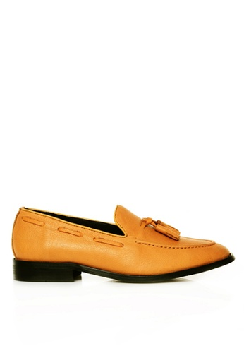 Zeve Shoes yellow Zeve Shoes Tassel Loafer - Mustard Pebble Grain 6B0A6SH8FAAC83GS_1
