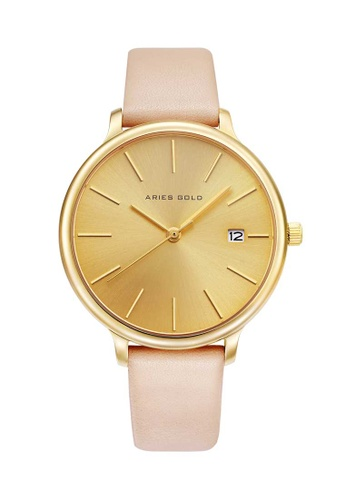 Aries Gold pink Aries Gold Enchant Fleur L 5035 Gold and Pink Watch AC738AC064F4FDGS_1