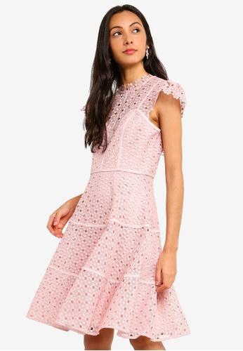 2c2ddb8b975960 Buy Forever New Ella Lace Skater Dress   ZALORA HK