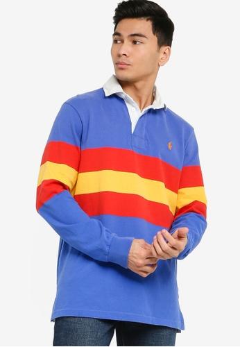 Polo Ralph Lauren blue Long Sleeve Knit Rugby Shirt A2D82AAD395B57GS_1