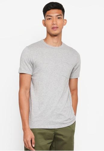 J.Crew grey Men's Slim Garment Dye Pocket Crew 603A1AAC0430B9GS_1