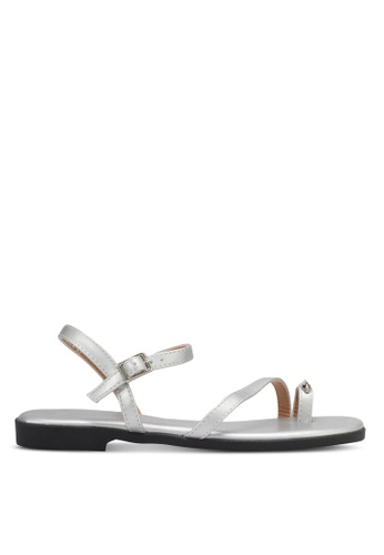 DMK silver Metal Accent Sandals DM860SH0SYGFMY_1