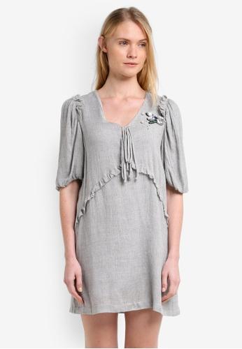 Mango grey Textured Wool-Blend Dress MA193AA0ROOXMY_1