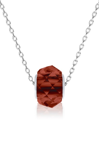 Her Jewellery red BeCharmed Briolette Bead Pendant (Red Magma) - Made with premium grade crystals from Austria 857B0AC39E63B3GS_1
