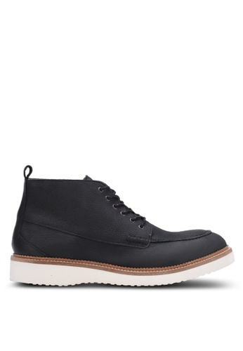 Selected Homme black Hrud Chukka Nubuck Boots SE364SH0S3Y6MY_1