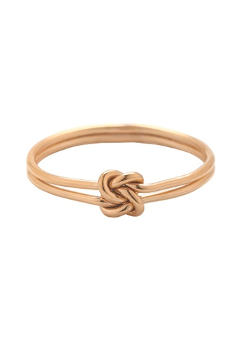 Studdedheartz 14K Rose Gold Filled Double Wire Square Knot Ring 525B4AC04F2D49GS_1