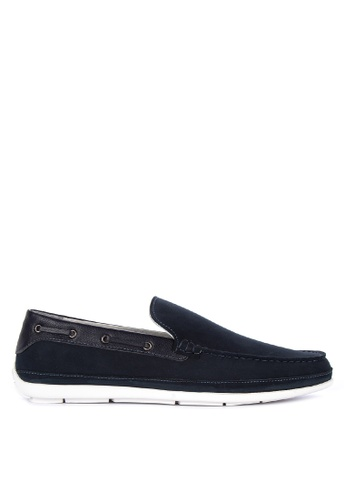 Sledgers navy Leander Boat Shoes 0BBB3SH2BC2DB8GS_1