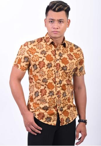 UA BOUTIQUE yellow Short Sleeve Shirt Batik UASSB56-091 (Yellow) 7D3A3AAF2111BFGS_1