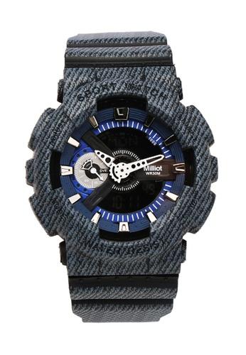 Milliot & Co. black Nick Watch D0468AC49D1AD9GS_1