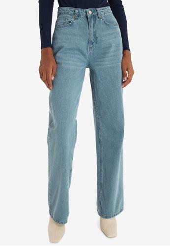 Trendyol blue Wide Leg Jeans 757B9AABFA3CE5GS_1