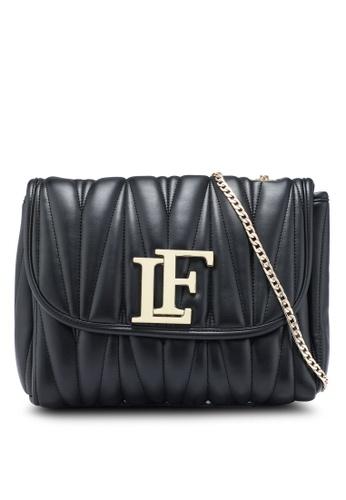 La Fille Des Fleurs black Anastasia Plissè Crossbody Bag 14EB4AC4636AAAGS_1