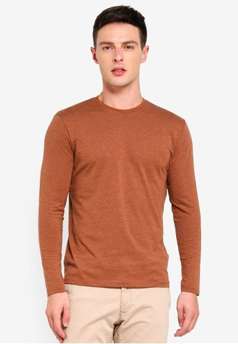 Electro Denim Lab 褐色 Cotton Tee 04432AAFA5B54AGS_1
