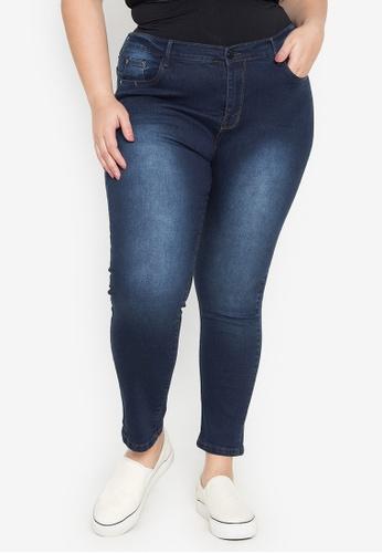 Balaynor blue Plus Size Skinny Denim Jeans AB3BBAA6A4B98DGS_1