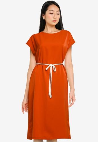 ZALORA BASICS orange Oversized Dress FFD98AAA04C320GS_1