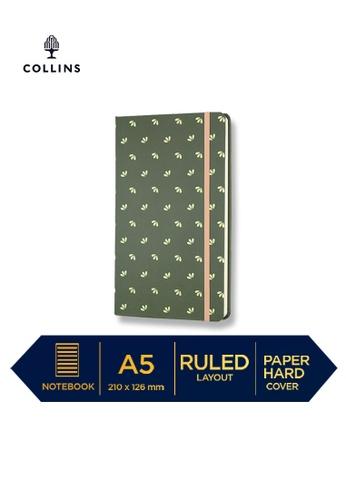 Collins green Collins Daisy   ─  Notebook A5 Slim Ruled Dark Green DF215HL7872C36GS_1