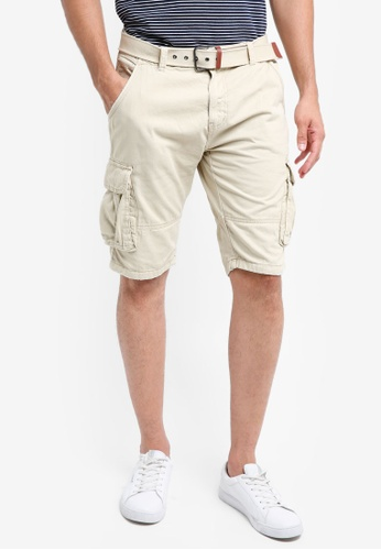 Indicode Jeans beige Monroe Cargo Shorts With Belt F32B3AAC8FDF79GS_1