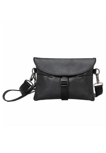 Lara black Small Plain Cross Body Bag - Black F9E73AC5BB47FBGS_1