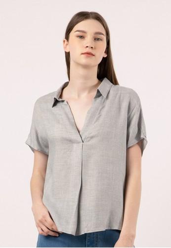 et cetera grey Short Sleeve Blouse BE697AA909A0D8GS_1
