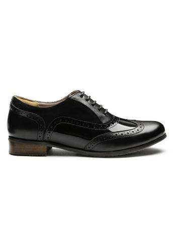 Byford black James Brogue Oxford Shoes 5FC14SHE7CB453GS_1