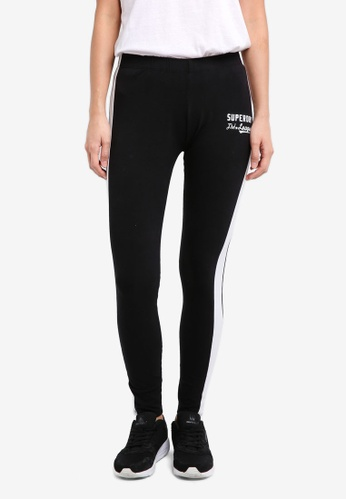 Superdry black Tri League Graphic Leggings SU137AA0SLOJMY_1