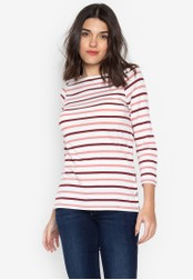 DEBENHAMS white and red The Collection - Col Envelope Neck Top 2E9D5AAB115849GS_1
