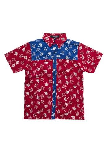 Bateeq red Boys S/S Ktn Cap Kombinasi 9A777KAE5058FBGS_1