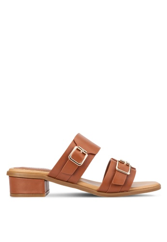 Alfio Raldo brown Dual Strap Sandals AL803SH21BZIMY_1