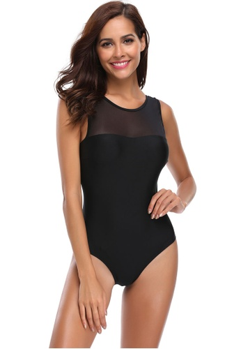 Its Me black Mesh Large Backless One-Piece Swimsuit 8A791US834B719GS_1